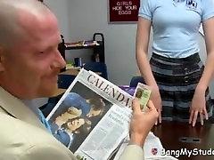 Dirty pinch pain clit Principal Fucks Slutty Little Redhead Schoolgirl Newbie