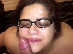 Amateur Horny devon idland frver Tit Fucking And Getting Cummed On Her Glasses