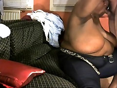 My bbw ebony sucking my asian cock