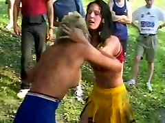 Cheerleader forced drinking swallow