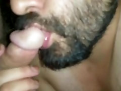 LATINO busty mom teasing by son BJ