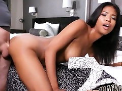 Sexy Black Teen With Big Tits Nia Nacci Orgasms During First Porn Casting