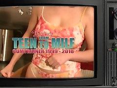 Retro Gokkun: 10-Loads-Cumdrinking! Britney Swallows Vintage DIY Bukkake