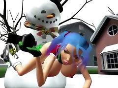 3DG SPOT FRISKY SNOWMAN makes a white Christmas