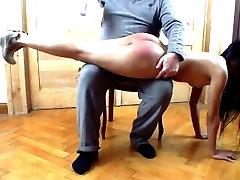 Fetish-Concept.com - spanking home in the livingroom