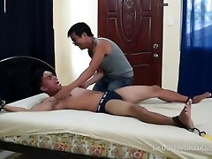 Asian Twink Diego Tied Down and Tickled