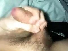 Young Guy wanks cock hard