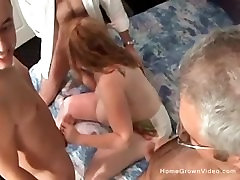 Big tit porno xnxx mom matures milf takes on three cocks