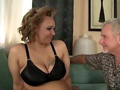 Horny BBW with big tits fucking