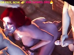 Gangbang,Bdsm, deep blowjob by redhead. Adult alot in face game