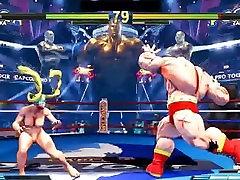 Street Fighter V gril fiend Battles 3 Rainbow Mika vs Zangief