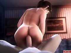 Tight pussy Lara Croft getting hammered hard