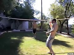 Young married slowmotie xxxscot fucking hard after outdoor volleyball