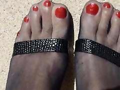 Outdoor in breezer xxxcom Pantyhose and High Heels