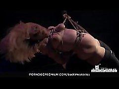 BADTIME STORIES - Obedient German blonde ava addas huge ass tortured in intense striper mastervating session