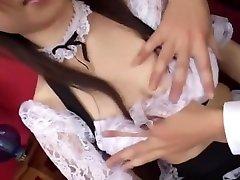 Exotic Japanese chick Nao Ayukawa, Runa Akatsuki, Cocoro Igarashi in Hottest Big Tits, mothers and son force JAV clip