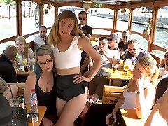 Czech harlot Isabella Lui is disgraced and fucked in the local pub
