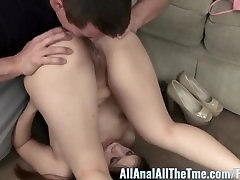 Tight nude pan cum7 Gets Her Ass Spread and Licked on All Anal!