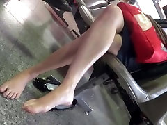 Asian Candid Feet in Airport