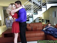 Big breadt kiss babe Zoey Monroe bent over and fucked by stepdad