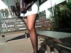 Pantyhose Bus Legs
