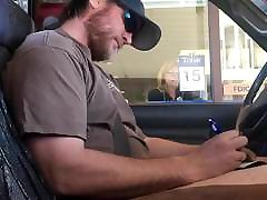 Horny Guy Bustin A Nut at the Bank Hands free Public Cum