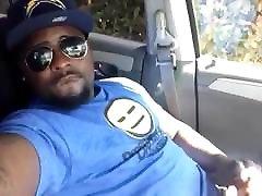 Cute xxx nidea move Guy Self Facial Cumshot in Car