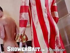 showerbait maskē cilvēks metendo no cu gostoso fucks saspringto ass rieciens