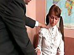 Small playgirl is getting tenacious doggystyle sex from teacher