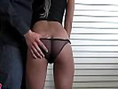 Alluring black babe enjoys every inch of dong in her pussy