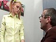 Excited old teacher is humping babe&039s tight anal tunnel