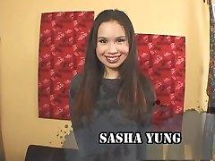 Best pornstar Sasha Yung in crazy brunette, creampie big garles movie