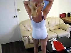 sexy blond dressed lady and underwear
