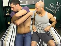 Cute stud bangs a brazzers threedome married guy with his huge cock