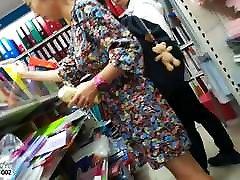 Boso Korean Mom Upskirt Black Panties