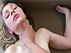 Busty darling gratifying dude with zealous blowjob