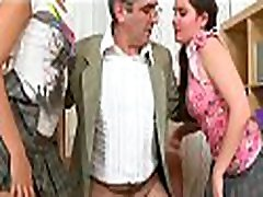 Vicious doggy style pounding from lascivious mature teacher