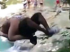 Indian girl ass fuck lifted upward outdoor