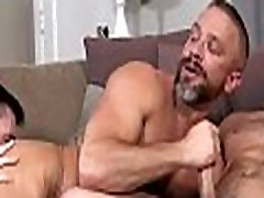 Oiled males with big dicks fucking in group scenes on cam