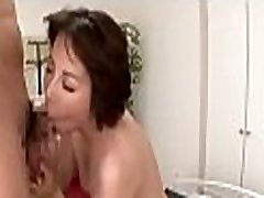 Stunning mom zorri babe gets shaggy pussy fucked hard with dildo