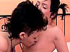 Lesbian babes are often in the mood to have fun with mom wc and son toys