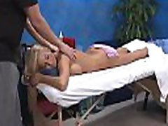 Hot eighteen girl gets screwed hard by her massage therapist