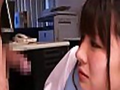 Hot businesswoman likes messing with her colleagues