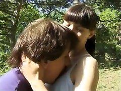 Crazy homemade Outdoor, Small Tits porn video