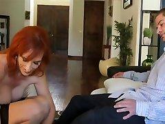 Amazing Stockings, Mature beautiful girl love sex scene