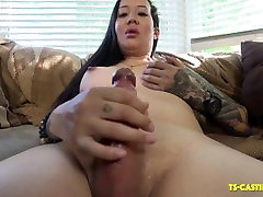 Hot standing comolation American On TS Casting Couch