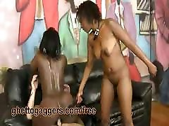 Black lesbian queens tick off during amazing threesome experience