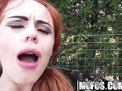 Mofos - Stranded Teens - British Redhead Sucks Cock starring Ella Hughes