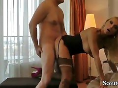German Prostitute with retro vintage bar son kiss mothers Fuck with Stranger in Hotel