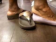 Shoe Shopping with BBW forcefully hardcore gangbang GILF... with Huge Feet!!!